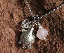 fertility necklace, turtle amulet