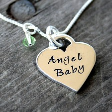Angel Baby Heart Miscarriage Necklace