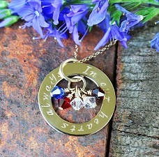 Angel Baby Miscarriage Affirmation Necklace 14k Gold 5 Birthstones