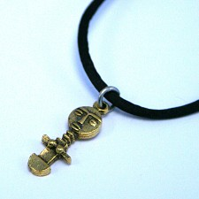Bronze Akua�ba Fertility Doll Necklace