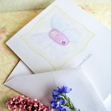 Butterfly Baby Miscarriage Sympathy Card