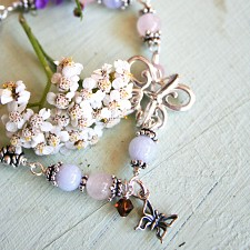 Butterfly Gemstone Miscarriage Bracelet