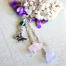 Butterfly Miscarriage Necklace with Emerald Birthstone