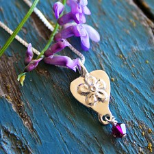 Forget-me-not Heart Miscarriage Necklace