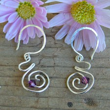 Handcrafted Sterling Silver Pregnancy Earrings