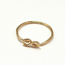 Infinity Knuckle Ring 14k Gold Filled Hammered