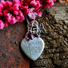 Moment in my Arms Miscarriage Necklace
