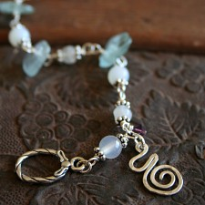Pregnancy Bracelet - Birth Spiral Charm