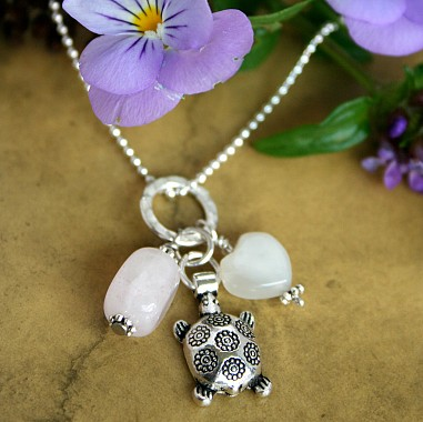Silver Plated Fertility Amulet Necklace