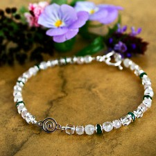 Spiral Fertility Bracelet Quartz and Aventurine