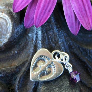 Tiny Footprints Miscarriage Memorial Charm