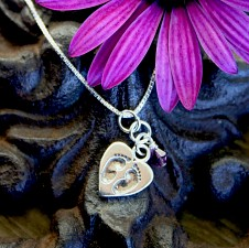 Tiny Footprints on a Mother's Heart - Miscarriage Necklace