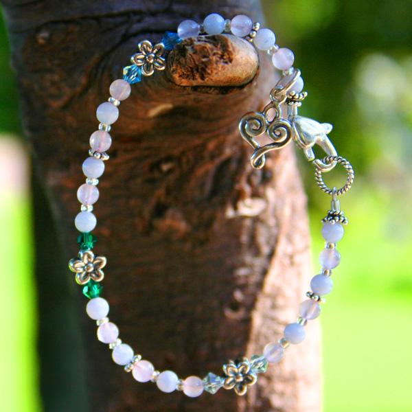 Forget Me Not Gemstone Miscarriage Bracelet